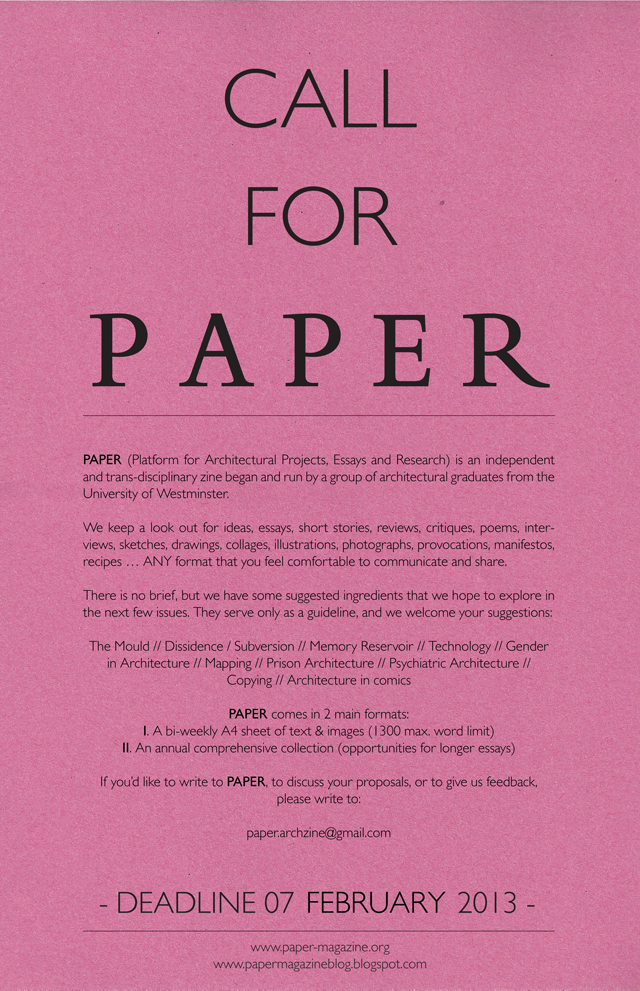 call for research paper 2012
